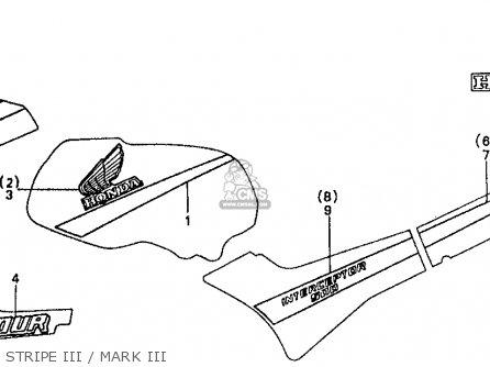 Honda Vf500f 500 Interceptor 1986 g Usa Stripe Iii   Mark Iii
