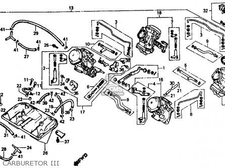 Honda Vf500f 500 Interceptor 1986 Usa Carburetor Iii