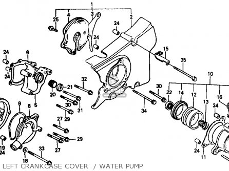 Honda Vf500f 500 Interceptor 1986 Usa Left Crankcase Cover    Water Pump