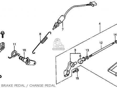 Honda Vf500f Interceptor 1986 g Usa California Brake Pedal   Change Pedal