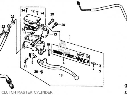 Honda Vf500f Interceptor 1986 g Usa California Clutch Master Cylinder