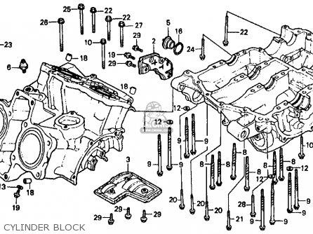 Honda Vf500f Interceptor 1986 g Usa California Cylinder Block