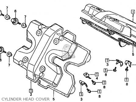 Honda Vf500f Interceptor 1986 g Usa California Cylinder Head Cover