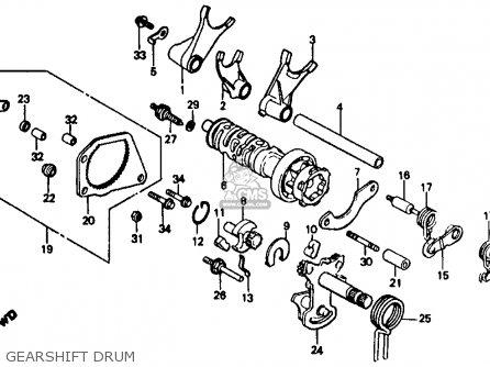 Honda Vf500f Interceptor 1986 g Usa California Gearshift Drum