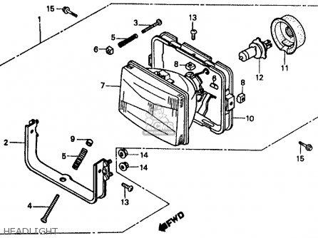 Honda Vf500f Interceptor 1986 g Usa California Headlight