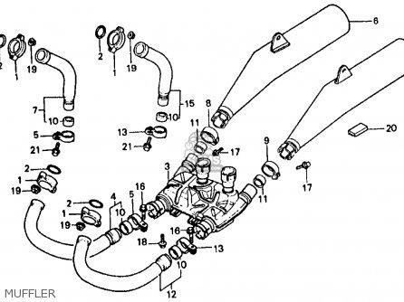 Honda Vf500f Interceptor 1986 g Usa California Muffler