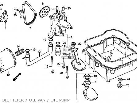 Honda Vf500f Interceptor 1986 g Usa California Oil Filter   Oil Pan   Oil Pump