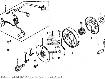 Honda Vf500f Interceptor 1986 g Usa California Pulse Generator   Starter Clutch