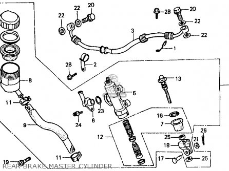 Honda Vf500f Interceptor 1986 g Usa California Rear Brake Master Cylinder