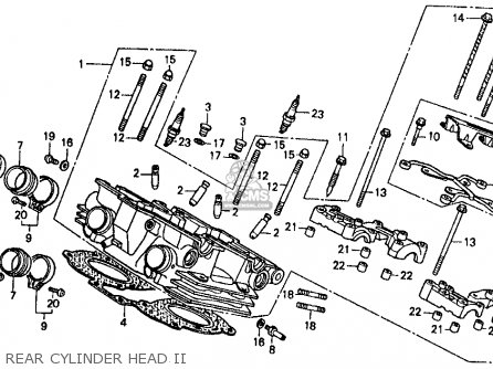 Honda Vf500f Interceptor 1986 g Usa California Rear Cylinder Head Ii