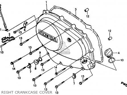 Honda Vf500f Interceptor 1986 g Usa California Right Crankcase Cover