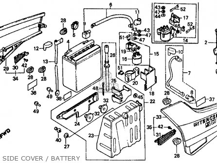 Honda Vf500f Interceptor 1986 g Usa California Side Cover   Battery