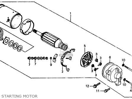 Honda Vf500f Interceptor 1986 g Usa California Starting Motor