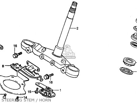 Honda Vf500f Interceptor 1986 g Usa California Steering Stem   Horn