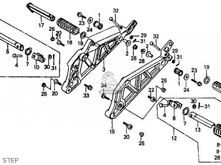 Honda Vf500f Interceptor 1986 g Usa California Step