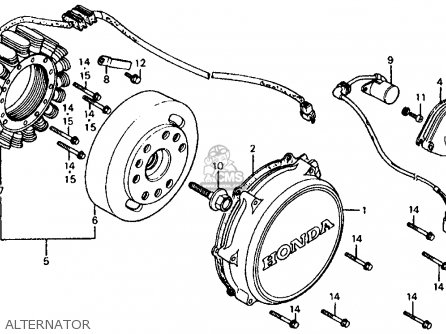 Honda Vf700c Magna 1984 e Usa Alternator