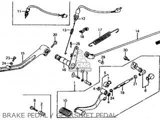 Honda Vf700c Magna 1984 e Usa California Brake Pedal   Gearshift Pedal