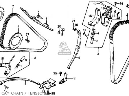 Honda Vf700c Magna 1984 e Usa California Cam Chain   Tensioner
