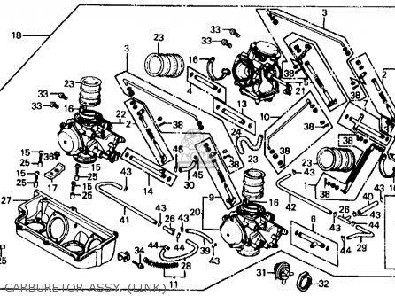 Honda Vf700c Magna 1984 e Usa California Carburetor Assy  link