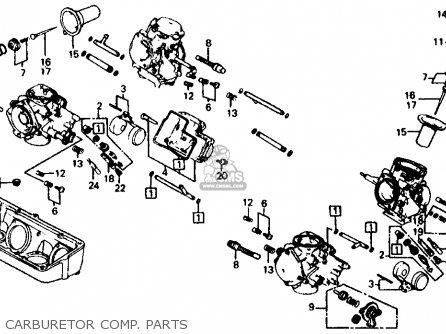 Honda Vf700c Magna 1984 e Usa California Carburetor Comp  Parts