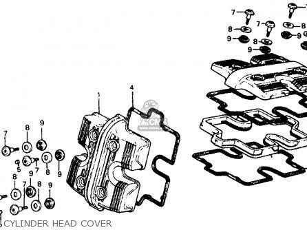 Honda Vf700c Magna 1984 e Usa California Cylinder Head Cover