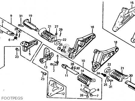 Honda Vf700c Magna 1984 e Usa California Footpegs