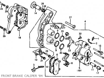 Honda Vf700c Magna 1984 e Usa California Front Brake Caliper 84