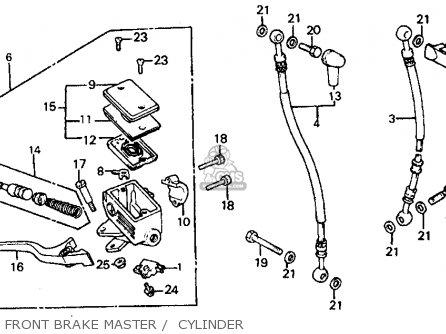 Honda Vf700c Magna 1984 e Usa California Front Brake Master    Cylinder