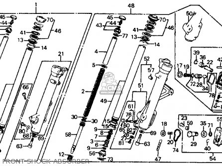 Honda Vf700c Magna 1984 e Usa California Front Shock Absorber