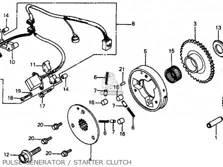 Honda Vf700c Magna 1984 e Usa California Pulse Generator   Starter Clutch