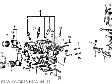 Honda Vf700c Magna 1984 e Usa California Rear Cylinder Head 84-85