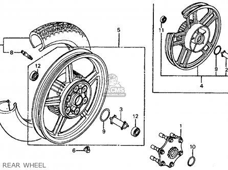 Honda Vf700c Magna 1984 e Usa California Rear Wheel