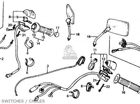 Honda Vf700c Magna 1984 e Usa California Switches   Cables