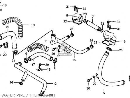 Honda Vf700c Magna 1984 e Usa California Water Pipe   Thermostat