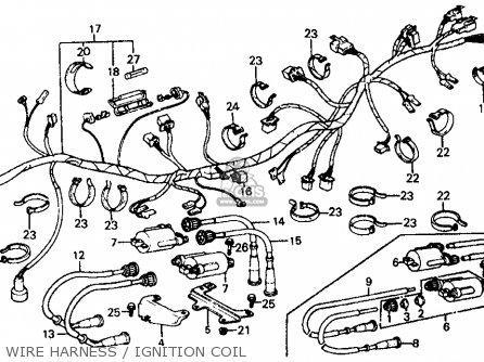 Honda Vf700c Magna 1984 e Usa California Wire Harness   Ignition Coil