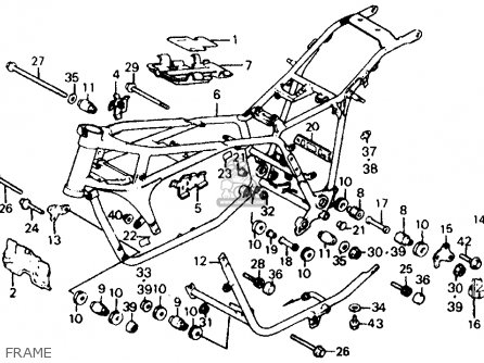 Honda Vf700c Magna 1984 e Usa Frame