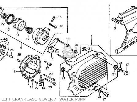 Honda Vf700c Magna 1984 e Usa Left Crankcase Cover    Water Pump