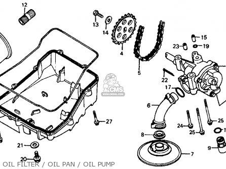 Honda Vf700c Magna 1984 e Usa Oil Filter   Oil Pan   Oil Pump
