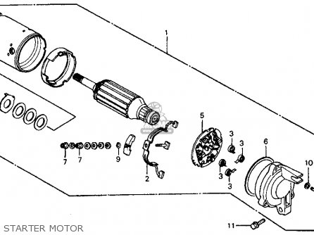 Honda Vf700c Magna 1984 e Usa Starter Motor
