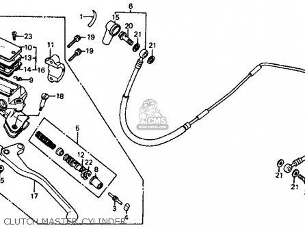Honda Vf700c Magna 1984 Usa Clutch Master Cylinder