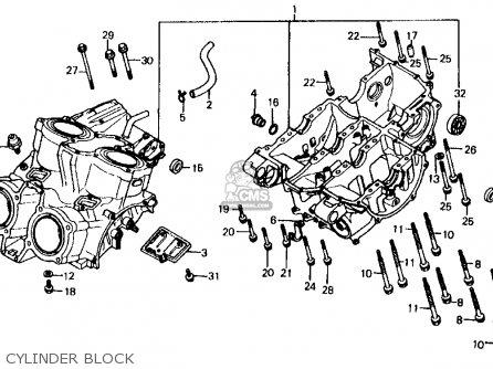 Honda Vf700c Magna 1984 Usa Cylinder Block