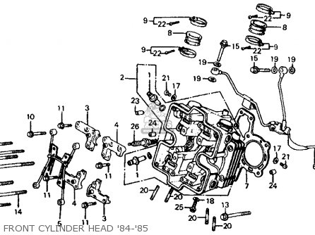 Honda Vf700c Magna 1984 Usa Front Cylinder Head 84-85