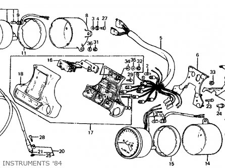 Honda Vf700c Magna 1984 Usa Instruments 84