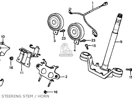 Honda Vf700c Magna 1984 Usa Steering Stem   Horn