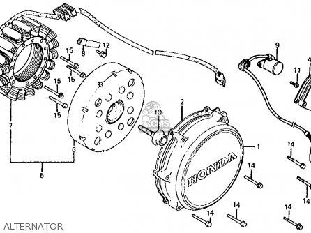 Honda Vf700s Sabre 1985 f Usa California Alternator