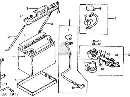 Honda Vf700s Sabre 1985 f Usa California Battery