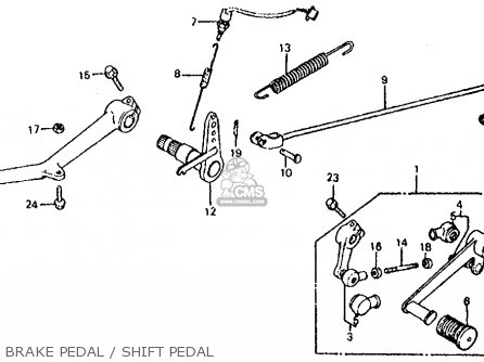Honda Vf700s Sabre 1985 f Usa California Brake Pedal   Shift Pedal