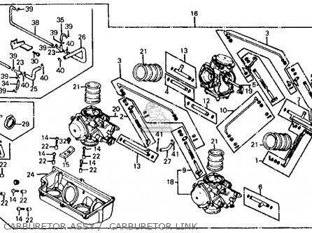 Honda Vf700s Sabre 1985 f Usa California Carburetor Assy    Carburetor Link