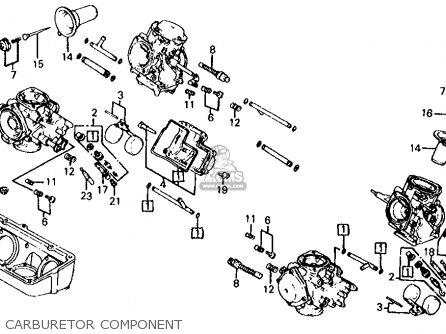 Honda Vf700s Sabre 1985 f Usa California Carburetor Component