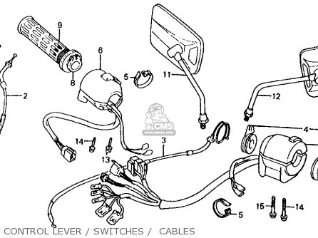 Honda Vf700s Sabre 1985 f Usa California Control Lever   Switches    Cables